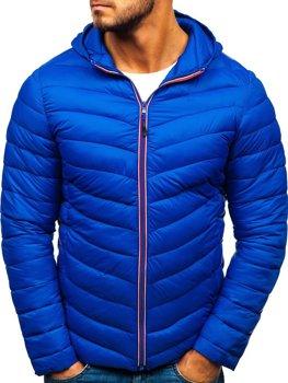 Kurtka męska zimowa sportowa niebieska Denley LY1016