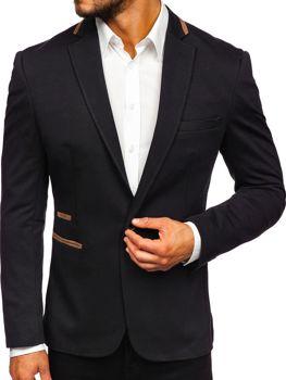 Marynarka męska elegancka czarna Denley 9400