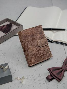 Portfel męski skórzany brązowy 3196