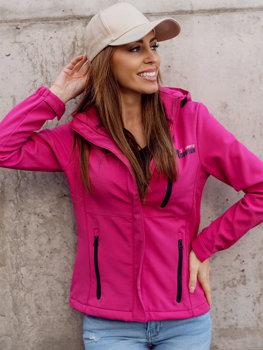 Różowa kurtka damska przejściowa softshell Denley HH028