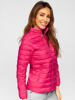 Różowa pikowana kurtka damska przejściowa Denley 1141
