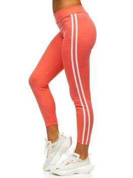 Różowe legginsy damskie Denley YW01036