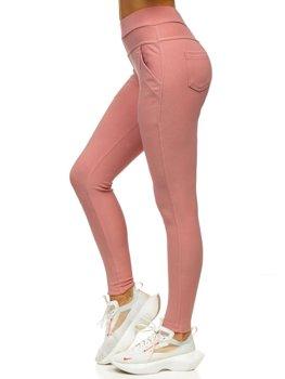 Różowe legginsy damskie Denley YW01040