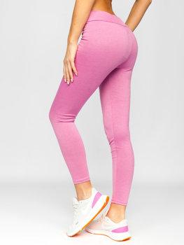 Różowe legginsy damskie Denley YW01058