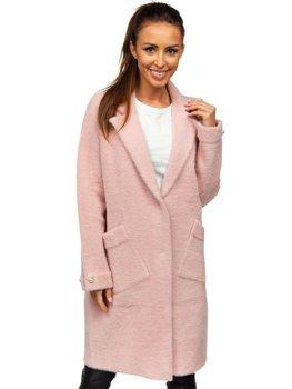 Różowy płaszcz damski Denley 20737