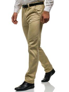Spodnie chinosy męskie beżowe Denley 6190