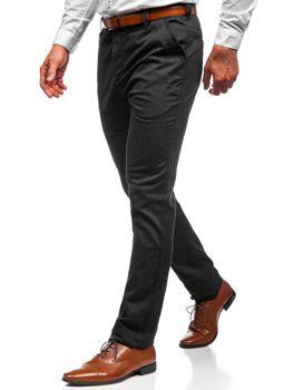 Spodnie chinosy męskie czarne Denley 30166