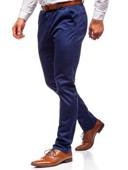 Spodnie chinosy męskie granatowe Denley KA968