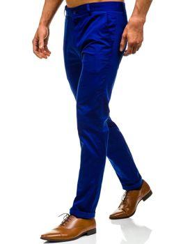 Spodnie chinosy męskie niebieskie Denley 0204