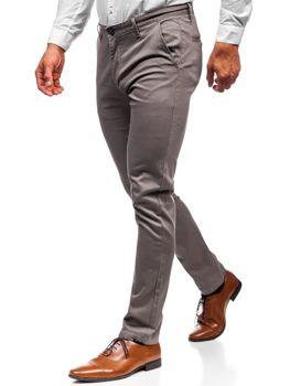 Spodnie chinosy męskie szare Denley KA969