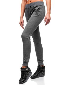 Spodnie dresowe damskie grafitowe Denley 77001