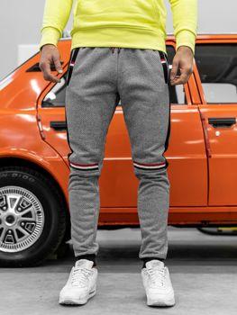 Spodnie dresowe męskie szare Denley AM67