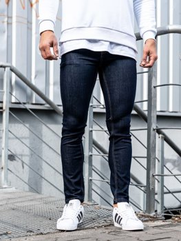 Spodnie jeansowe męskie atramentowe Denley 61827