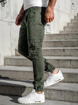 Spodnie joggery bojówki męskie khaki Bolf 0858