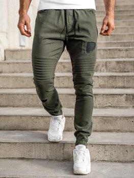 Spodnie joggery męskie khaki Bolf 0829