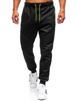 Spodnie męskie dresowe czarne Denley 1928