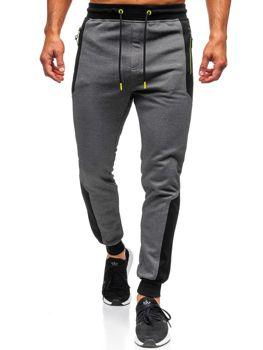 Spodnie męskie dresowe grafitowe Denley TC849