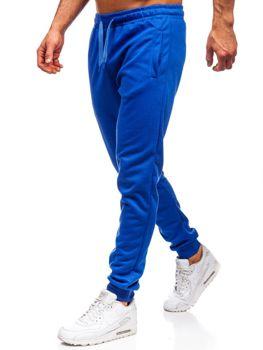 Spodnie męskie dresowe kobaltowe Denley JZ11001