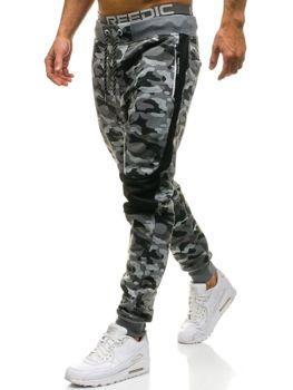 Spodnie męskie dresowe moro-szare Denley QN269