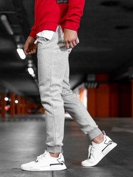 Spodnie męskie dresowe szare Denley XW03