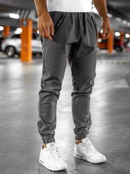 Spodnie męskie joggery szare Bolf 0952