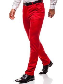 Spodnie wizytowe męskie czerwone Denley 3186