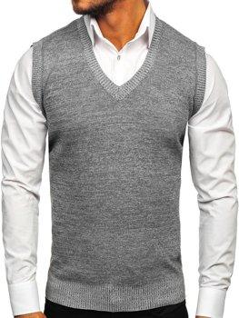 Sweter męski bez rękawów szary Denley 8121