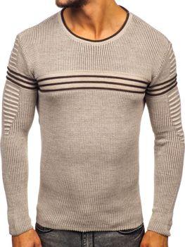Sweter męski beżowy Denley 0001