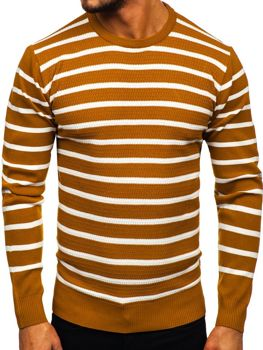Sweter męski camelowy Denley H6052