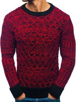 Sweter męski czarno-czerwony Denley 197