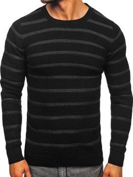 Sweter męski czarny Denley 4356