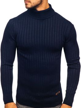 Sweter męski golf granatowy Denley 3070
