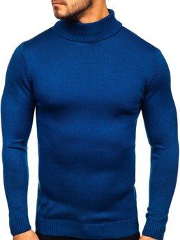 Sweter męski golf niebieski Denley 4519