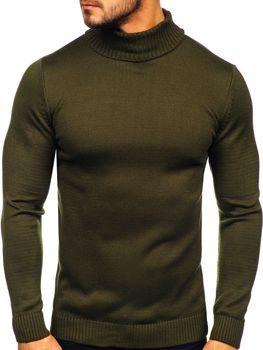 Sweter męski golf zielony Denley 4519