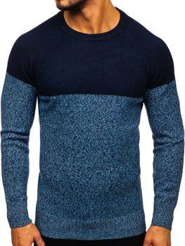 Sweter męski niebieski Denley H1809