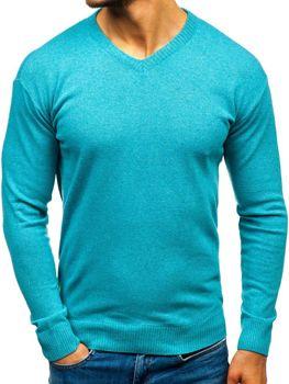 Sweter męski w serek miętowy Bolf 6002