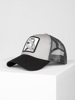 Szara czapka z daszkiem Denley CZ78-11