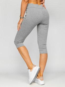 Szare krótkie  legginsy damskie Denley YW01045