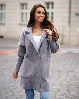 Szary płaszcz damski Denley 7108
