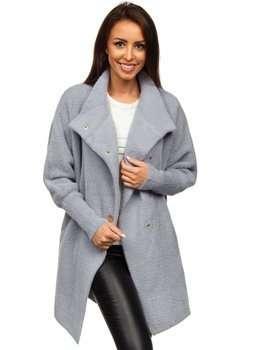 Szary płaszcz damski Denley 7118-1