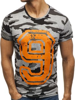 T-shirt męski z nadrukiem multikolor Denley 2101B