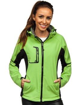Zielona kurtka damska przejściowa softshell Denley 307