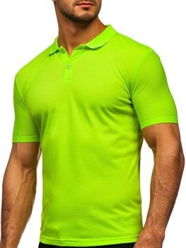 Zielony-neon koszulka polo męska Denley GD02
