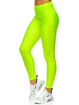Żółty-neon legginsy damskie Denley YW06010
