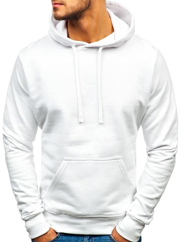 Bluza męska z kapturem biała Denley AK47