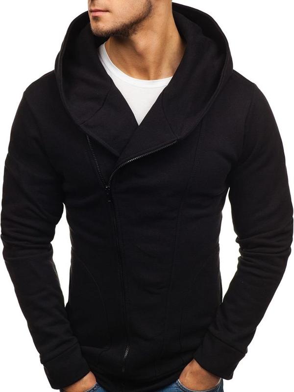 Bluza męska z kapturem czarna Bolf 05S