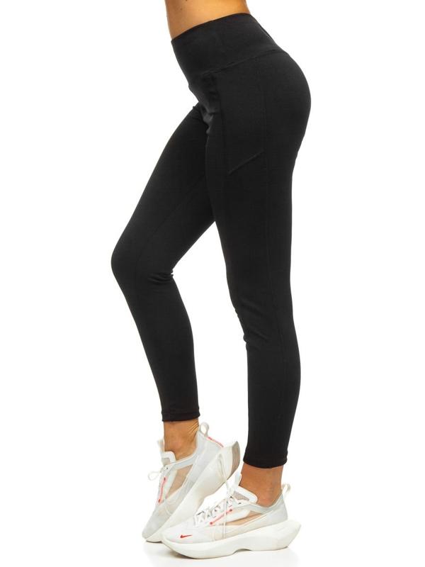 Czarne legginsy damskie Denley CHE010