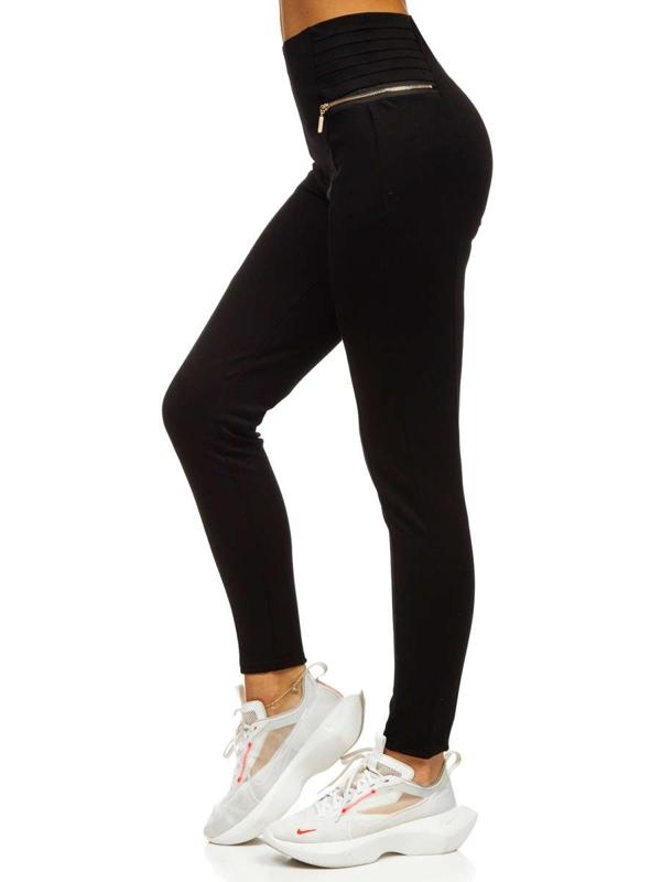 Czarne legginsy damskie Denley YW01039-F1
