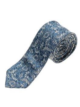 Elegancki krawat męski niebieski Denley K101