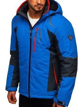 Kurtka męska narciarska niebieska Denley BK085